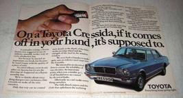 1978 Toyota Cressida 2000 4-Door Car Ad - It Comes Off - $14.99
