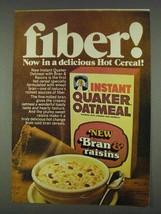 1978 Instant Quaker Oatmeal Bran & Raisins Ad - $14.99