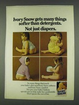 1978 Ivory Snow Ad - Softer Than Detergents - $14.99