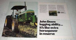 1978 John Deere Tractor Ad - Lugging Ability - $14.99