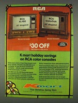 1978 Kmart RCA Model GC6285 and GC645H TV's Ad - $14.99