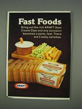 1978 Kraft Bacon & Horseradish Sour Cream Dip Ad - $14.99