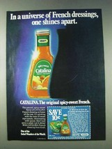 1978 Kraft Catalina French Dressing Ad - Shines Apart - $14.99