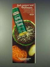 1978 Kraft Grated Paresan Cheese Ad - Salt, Pepper - $14.99