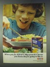 1978 Kraft Macaroni & Cheese Dinner Ad - When You Fix - $14.99