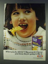 1978 Kraft Macaroni & Cheese Dinner Ad - Like It - $14.99