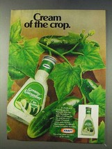 1978 Kraft Creamy Cucumber Dressing Ad - Cream of Crop - $14.99