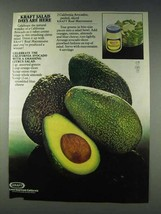 1978 Kraft Mayonnaise Ad - California Avocado - $14.99