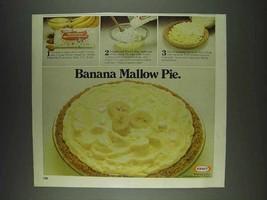 1978 Kraft Miniature Marshmallow Ad - Banana Mallow Pie - $14.99
