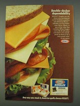 1978 Kraft Singles Cheese Ad - Double-Decker - $14.99