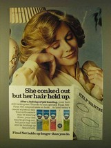 1979 Clairol Final Net Hair Spray Ad - She Conked Out - $14.99