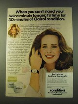 1979 Clairol Condition Ad - Can't Stand Your Hair - $14.99