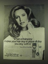 1979 Clairol Final Net Hair Spray Ad - Stay in Place - $14.99