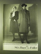 1979 Kasper for Joan Leslie Fashion Ad - Skirt, Coat - $14.99