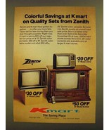 1979 Kmart Zenith TV Set Ad - L3940, L3310, SL4529  - $14.99