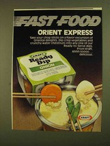 1979 Kraft Onion Ready Dip Ad - Orient Express - $14.99