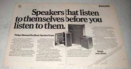 1978 Philips RH545, RH541 and RH544 Speakers Ad - $14.99
