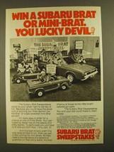 1979 Subaru Brat Ad - Win Mini-Brat You lucky Devil - $14.99