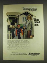 1978 Prudential Insurance Ad - Mom and Dad To My Kids - $14.99