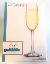 NEW Dailyware Toasting Champagne Flutes 4-piece... - $24.75