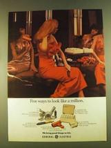 1980 General Electric Hairdryer Ad - Super Pro - $14.99