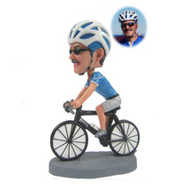 Customized Riding Bike Bobblehead Cycling Actio... - $63.71