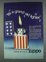 1978 Zippo Cigarette Lighter Ad - Grand Old Lighter - $14.99
