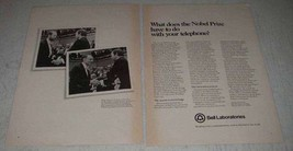 1979 Bell Labs Ad - King Carl XVI Gustav, Robert Wilson - $14.99