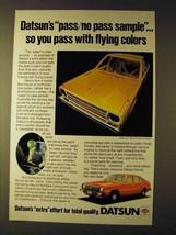 1979 Datsun Cars Ad - Pass/No Pass Sample - $14.99