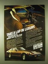 1979 Datsun 280-ZX Car Ad - Take a Lap in Luxury - $14.99