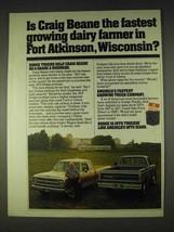 1979 Dodge Pickup Truck Ad - Craig Beane Dairy Farmer - $14.99