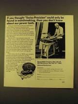 "1979 Garrett Wade INCA 10"" Cabinetmaker's Saw Ad - $14.99"