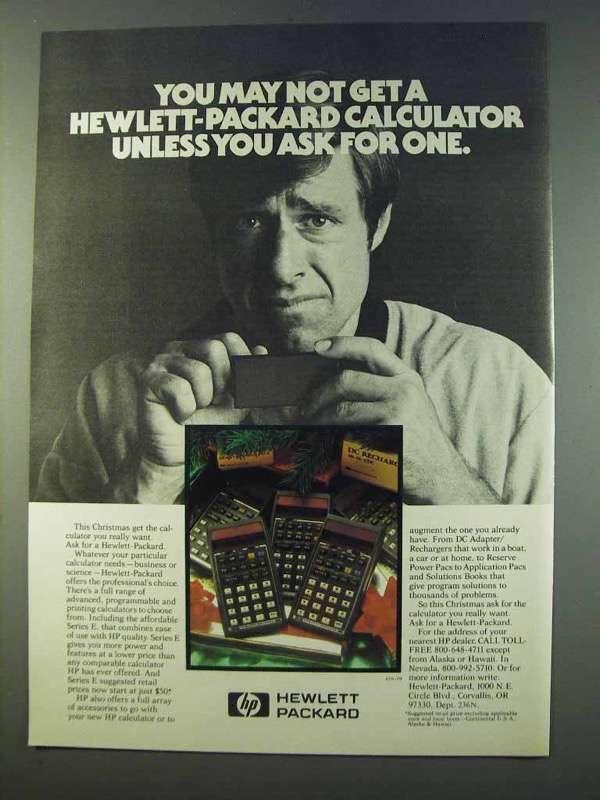 1979 Hewlett-Packard Calculators Ad - You May Not Get - $14.99