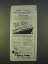 1979 Holland America S.S. Rotterdam Cruise Ad - $14.99