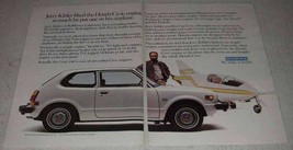 1979 Honda Civic CVCC Ad - Jerry Kibler put in Airplane - $14.99