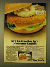 1979 Kraft Miracle Whip & Mrs. Paul's Fish Fillet Ad - $14.99