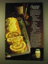1979 Kraft Mayonnaise Ad - Swiss Omelet Roll Recipe - $14.99