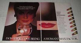 1979 Max Factor Colorfast Long Lasting Lipstick Ad - $14.99