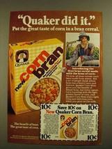 1979 Quaker Corn Bran Cereal Ad - Did It - $14.99