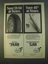 1979 Sears Steel Belted Radial Tires and Shocks Ad - $14.99
