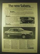 1979 Subaru Front Wheel & Four Wheel Drive Saloon Ad - $14.99