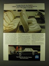 1980 Chrysler New Yorker Fifth Avenue Ad - Compete - $14.99