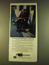 1980 John Deere Chain Saw Ad - Just As Soon Never - $14.99