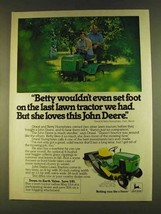 1980 John Deere 108 Lawn Tractor Ad - Betty Wouldn't - $14.99