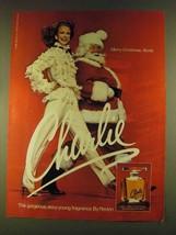 1980 Revlon Charlie Perfume Ad - Merry Christmas - $14.99