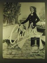 1980 Revlon Charlie Perfume Ad - Gorgeous - $14.99