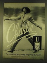 1980 Revlon Charlie Perfume Ad - Sexy-Young - $14.99