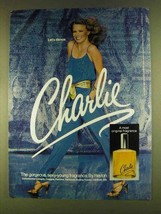 1980 Revlon Charlie Perfume Ad - Let's Dance - $14.99