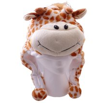 Giraffe Plush Hat - Fits Kids and Adults - With Long Plush Pom Pom Ties - $12.82