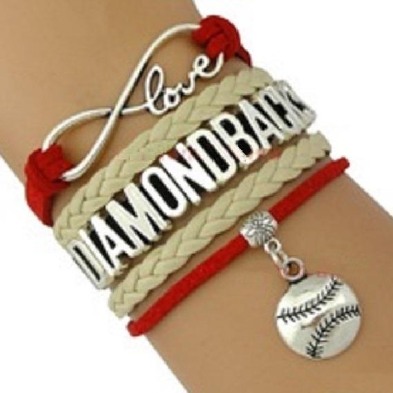 Arizona Diamondbacks Baseball Fan Shop Infinity Bracelet Jewelry